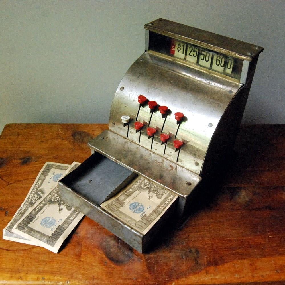 Vintage Toy Cash Register Kamkap Junior Merchant