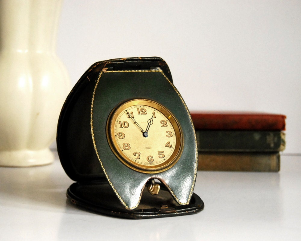Vintage Clock Laco Swiss Travel Alarm Clock 3 Day Clock