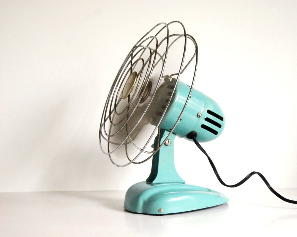 Vintage fan art deco eskimo 081002 desk fan or hanging fan - Deco table retro ...
