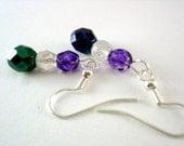 SUPER SALE- Window- Vintage Glass Drop Earrings