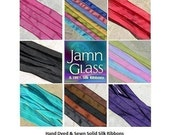 CHOICES YOU PICK 3 Solid Silk Ribbons Hand Dyed Strings Ties Custom Assortment of Colors