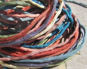 SANTA FE Collection Silk Strings, Hand Dyed Silk Cords, Strings Bulk Quantity 10 to 100, Kumihimo Braids, Bracelet Wraps or Jewelry Crafts