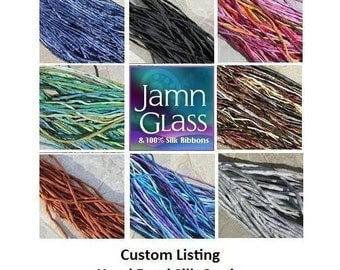 CUSTOM CORD ASSORTMENT 25 Hand Dyed Silk Cords You Pick The Colors, Hand Sewn Strings, Great Necklaces or Bracelet Wraps