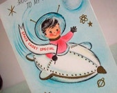 Rocket to my Party 50s vintage party invites