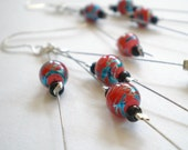 Accuracy ... Red Beaded Earrings