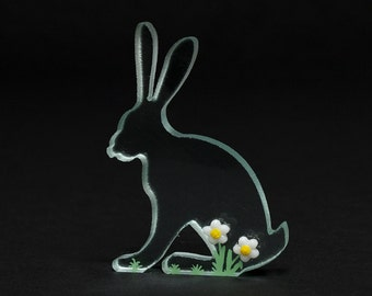 Daisy Hare Glass Sculpture Cast Painted Enamels