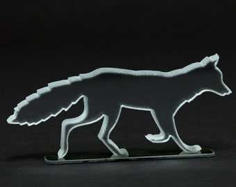 Clear Glass Fox Sculpture