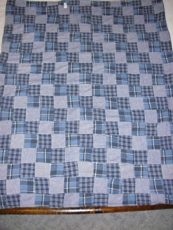 Flannel Patchwork Throw