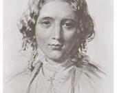 Vintage HARRIET BEECHER STOWE Portrait Print - Classroom Poster