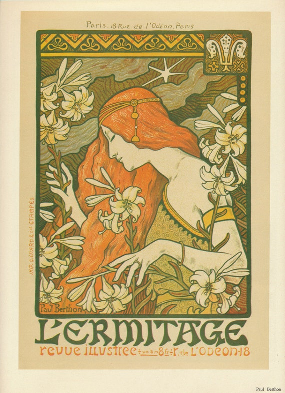 Vintage art nouveau posters paul berthon and pierre bonnard for Pierre bonnard la fenetre ouverte