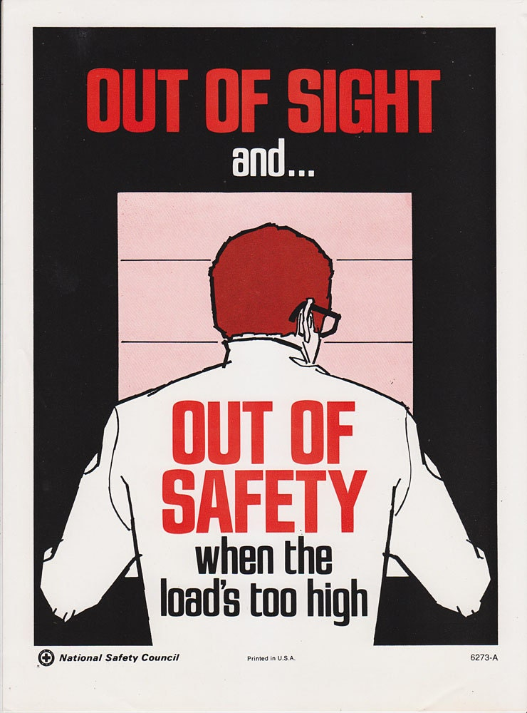 vintage workplace safety poster 1960s national safety council