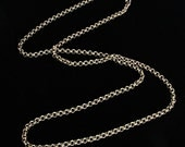 Antique Gold Rolo Chain- finished- 16 inches or 18 inches
