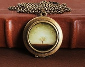 The Round Earth- Photo Art Locket Necklace
