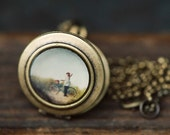 A Day At The Beach- Photo Locket Necklace-The Lukas VanDyke Collection