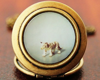The Tiger - Photo Locket Necklace