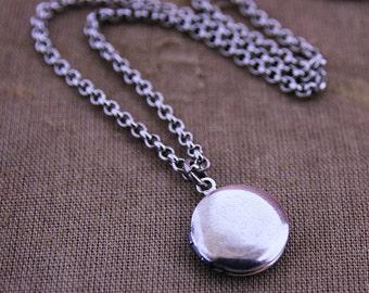 Tiny Charm Locket Necklace - Silver Single Edition