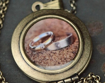I Do - Wedding Rings Photo Locket Necklace - The Lukas VanDyke Collection