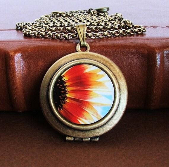 Halved- Photo Art Locket Necklace-Collaboration with Flandersfield