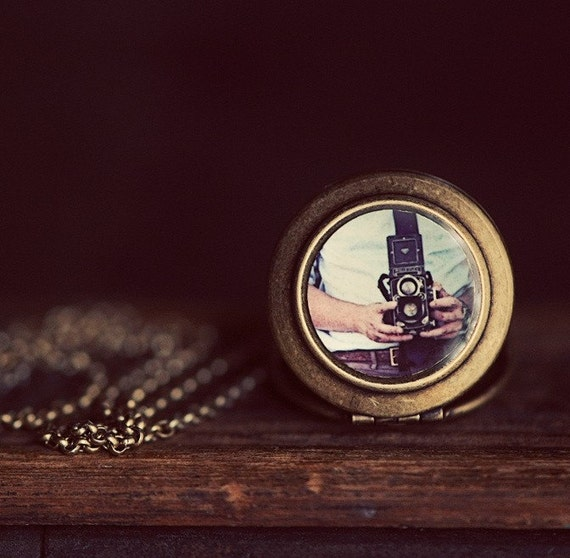 Vintage Rolleiflex Camera - Photo Locket Necklace - The Lukas Van Dyke Collection