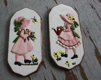 Vintage 1970s Holly Hobbie Wall Plaques