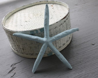 Shabby Cottage Beach Chic Blue Starfish