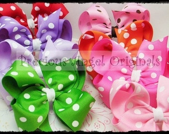 Set of 3 Large Polka Dot Boutique Bows