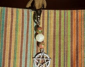 Stone and Pentacle Key Fob