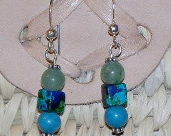 Gaea Earrings (Green and Blue)