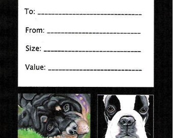 Custom Pet Portrait Gift Certificate-8 x 10-Your Dog or Cat-Carla Smale