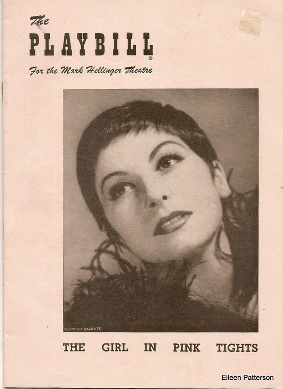 Vintage Playbill The Girl in Pink Tights 1954