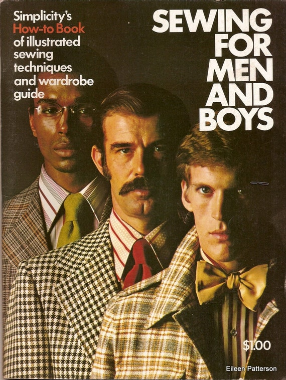 Vintage 70's Sewing Book Simplicity's Sewing for Men and Boys