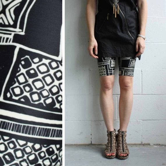 Bike Shorts - Tribal print spandex - LAST PAIR