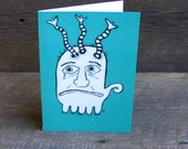 Simon Blank greeting card