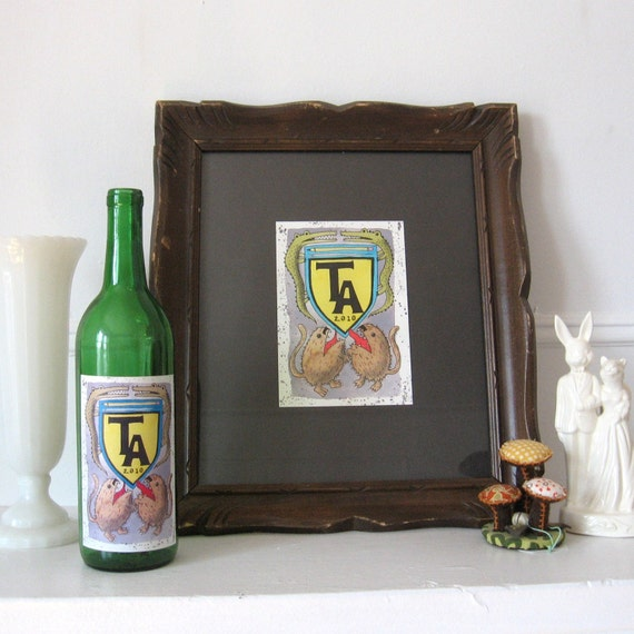 """8"""" x 10"""" Custom Family Crest Watercolour Painting-"""