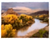 THE CHAMA,  Fine Art Polaroid Transfer Composite matted to 8 x 10 (ready to frame)