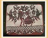 Day of the Dead mouse pad retro Mexico pop culture kitsch dia de los muertos