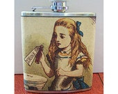 Alice in Wonderland flask white rabbit retro vintage fairy tale victorian fantasy
