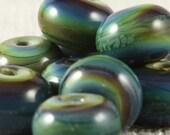 Blue Chalcedony Gems - Accent Flamework 10 Bead Set, SRA