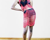 Raghouse International Terra Cotta Crochet Mini Dress