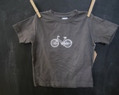 SALE // Bicycle // Hand Printed // Grey size 2 T Shirt