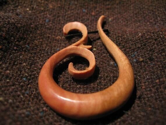 wood marina earrings