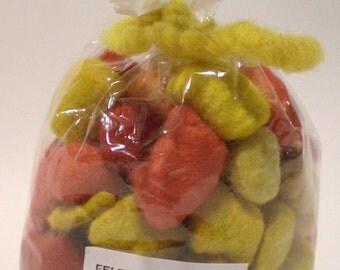 Yellow Felt Beads