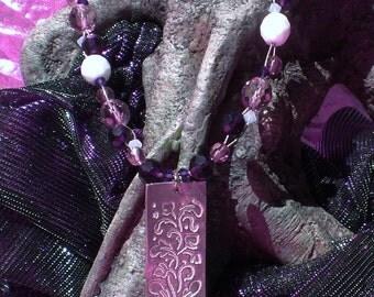 Lavendar with Lavender Necklace