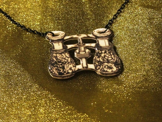 Opera Glasses Necklace