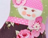 Shop closing sale - 40% off all items - refund upon payment - Scandinavian Matryoshka  Art Doll  - Fru Langsom