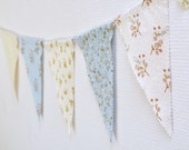 Sweetest Little Bird Bunting - in blue and cream