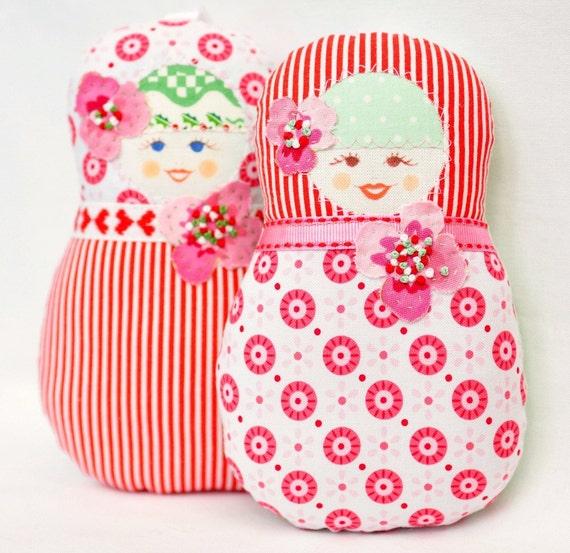 Scandinavian Matryoshka  Art Doll  - Fru  Jul