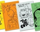 Black Friday Etsy Mini Comic Bundle 1: four black and white mini comics