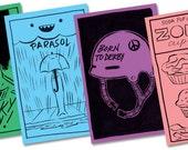 Black Friday Etsy Mini Comics Bundle 3: four black and white mini comics