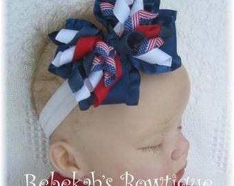 4th of july headband, 4th of july baby headband, july 4th headband, military headband, newborn headband, red white blue headband, patriotic